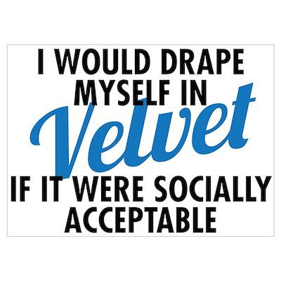 Seinfeld: Velvet quote Poster