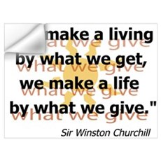 What We Give by Churchill Wall Decal