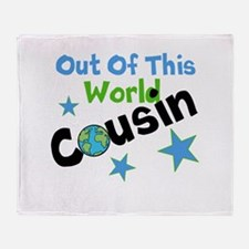 Out Of This World Cousin Throw Blanket