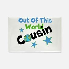 Out Of This World Cousin Rectangle Magnet