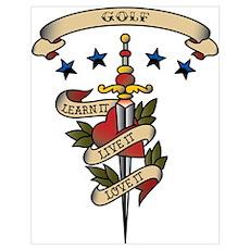 Love Golf Poster