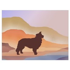 Mountain Mirage Borzoi Framed Print