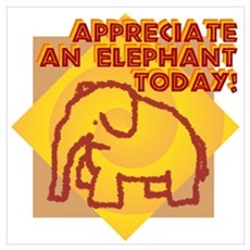 Appreciate An Elephant Poster