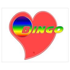 Heart Bingo Poster
