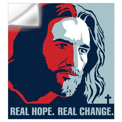Real Hope. Real Change. Wall Decal
