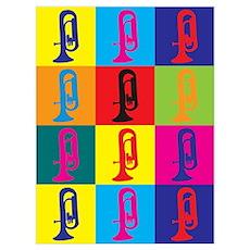Euphonium Pop Art Poster
