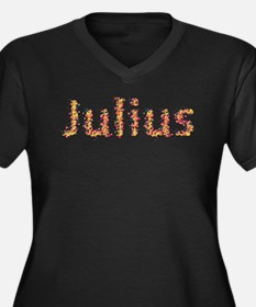 Julius Fiesta Women's Plus Size V-Neck Dark T-Shir