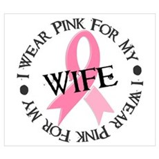 I Wear Pink For My Wife 38 Canvas Art