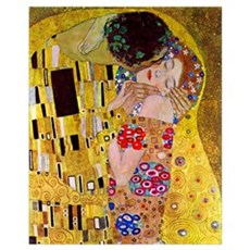 Gustav Klimt The Kiss (detail) medium Framed Print