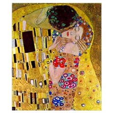 Gustav Klimt The Kiss (detail) medium Poster
