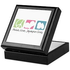 Peace, Love, Japanese Chins Keepsake Box