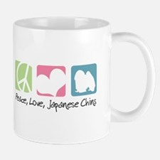 Peace, Love, Japanese Chins Mug