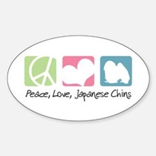 Peace, Love, Japanese Chins Decal