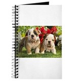 Bulldog puppies Journals & Spiral Notebooks