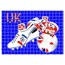 United Kingdom union jack style Poster