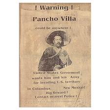 Pancho Villa Warning Print