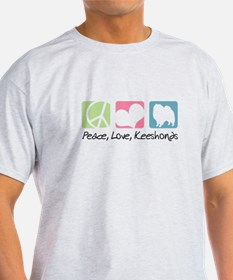 Peace, Love, Keeshonds T-Shirt