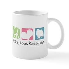 Peace, Love, Keeshonds Mug