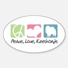 Peace, Love, Keeshonds Decal