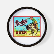 California Beer Label 2 Wall Clock