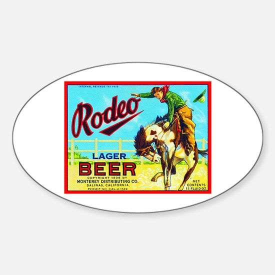 California Beer Label 2 Sticker (Oval)