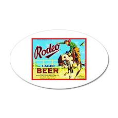 California Beer Label 2 22x14 Oval Wall Peel