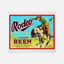 California Beer Label 2 Throw Blanket