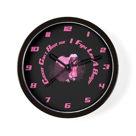 Cancer Awareness Wall Clock