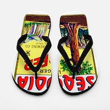 California Beer Label 3 Flip Flops