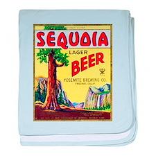 California Beer Label 3 baby blanket