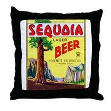 California Beer Label 3 Throw Pillow