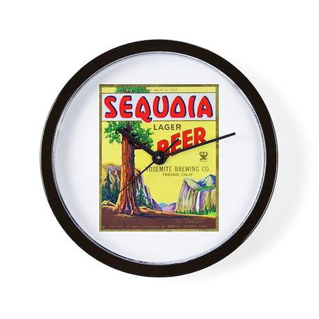 California Beer Label 3 Wall Clock