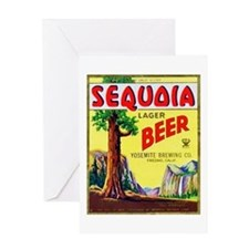 California Beer Label 3 Greeting Card