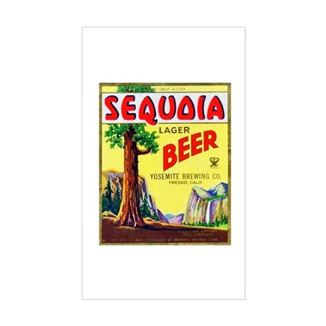 California Beer Label 3 Sticker (Rectangle)