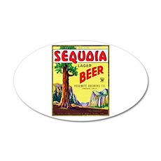 California Beer Label 3 22x14 Oval Wall Peel