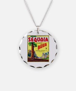 California Beer Label 3 Necklace