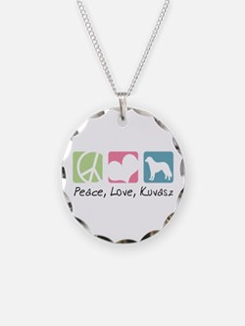 Peace, Love, Kuvasz Necklace