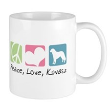 Peace, Love, Kuvasz Mug