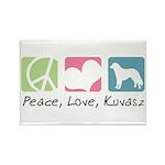 Peace, Love, Kuvasz Rectangle Magnet (10 pack)