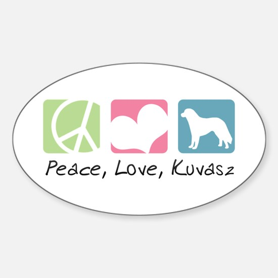 Peace, Love, Kuvasz Sticker (Oval)