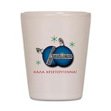 """MERRY CHRISTMAS"" IN GREEK Shot Glass"