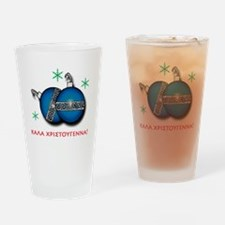 """MERRY CHRISTMAS"" IN GREEK Drinking Glass"