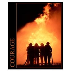 Firefighter Courage Framed Print