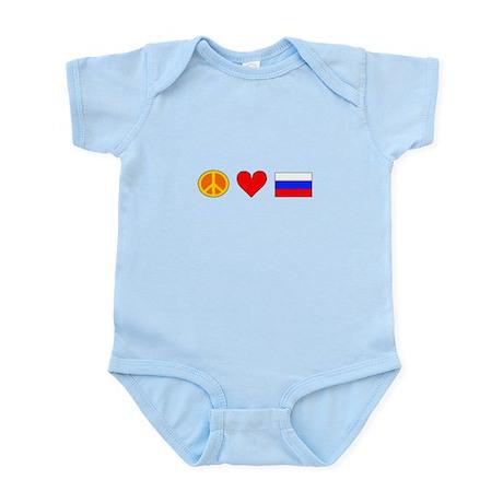 Peace Love Russia Infant Bodysuit