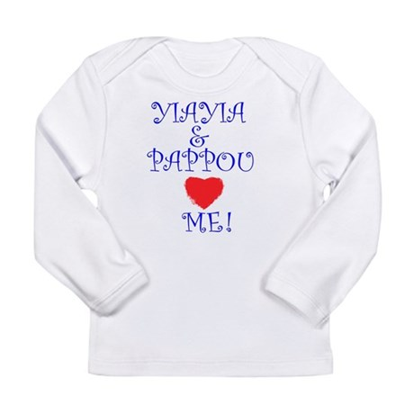 YIAYIA AND PAPPOU LOVE ME Long Sleeve Infant T-Shi