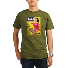 Titter Hot Pin Up Brunette Girl T-Shirt
