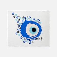 MATI-GREEK EYE Throw Blanket