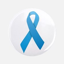 "Light Blue Ribbon 3.5"" Button"