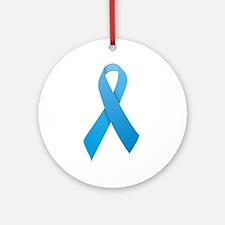 Light Blue Ribbon Ornament (Round)