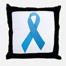Light Blue Ribbon Throw Pillow